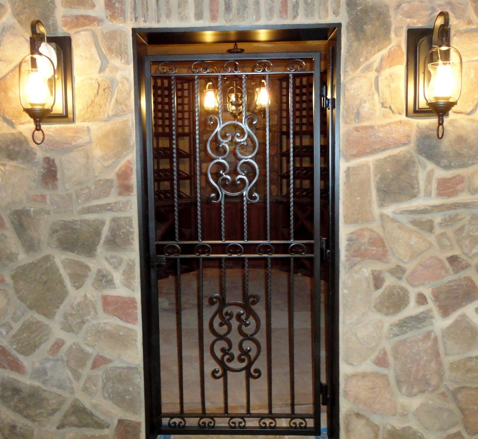 De luco architectural metals wine cellar gate