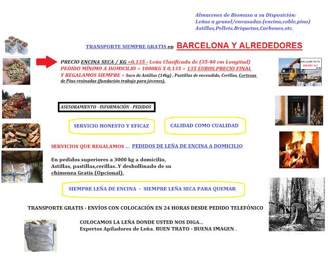 Le a precio barcelona precio de le a en barcelona le a for Precios insertables de lena