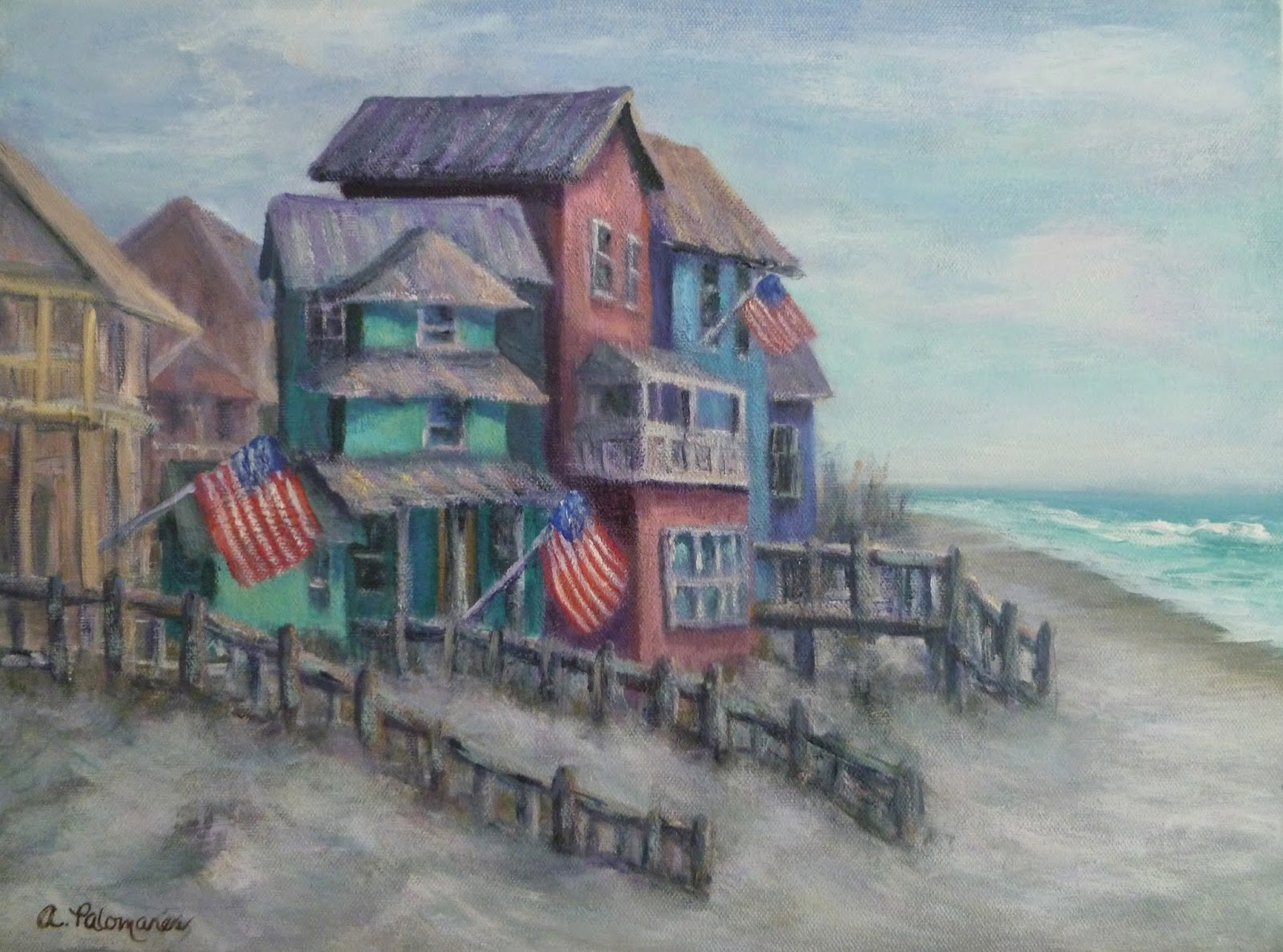 COASTAL FINE ART PAINTINGS by Amber Palomares