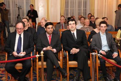 Boris Gelfand, Viswanthan Anand, Vladimir Kramnik et Fabiano Caruana - Photo © site officiel