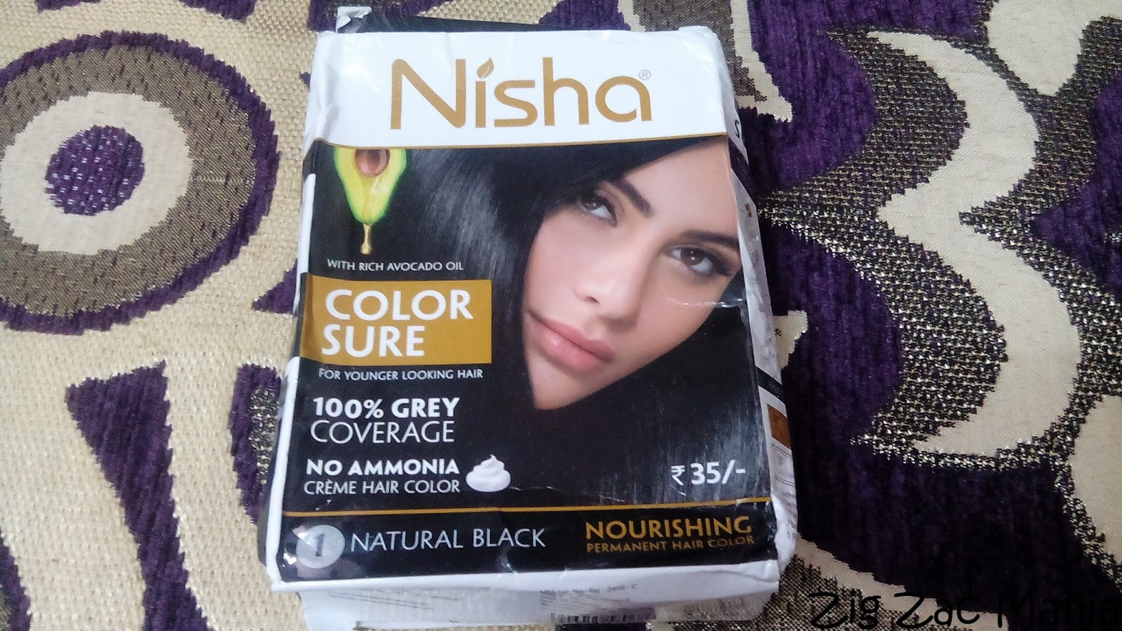 Nisha Color Sure Natural Black 01 Hair Color Review Zig Zac Mania