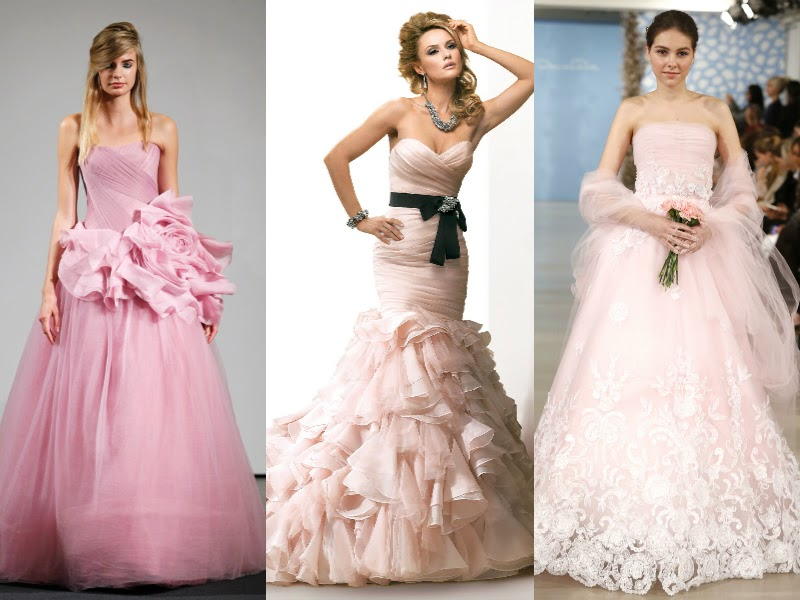 brides & bridesmaids fashion: 2014 Colorful Wedding Dresses Trend