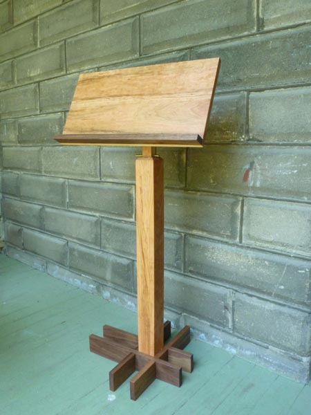 Music Stand Designs : Wood music stand kit
