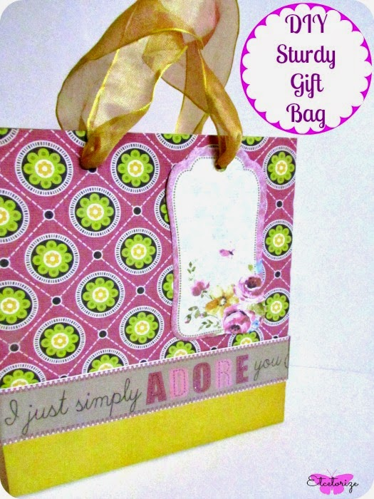 Mod Podge, DIY Gift Bag, Sturdy Gift Bag, Recycle a box