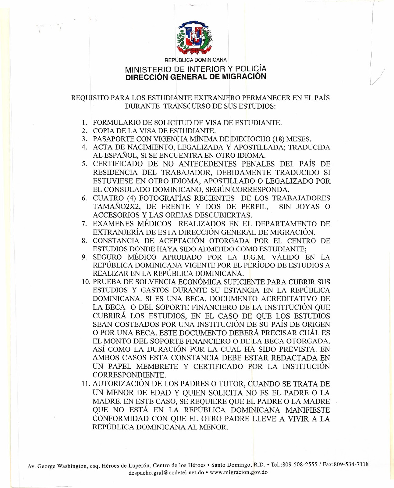 La carta de migraci n al ministerio de educaci n for Ministerio de migracion