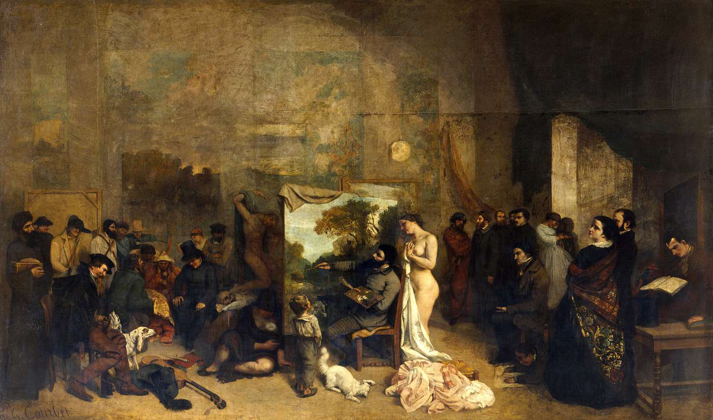 Kunst in de negentiende eeuw gustave courbet for Interieur 19e eeuw