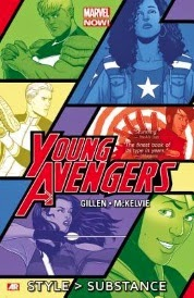 Cover of Young Avengers Volume One, Style Trumps Substance.