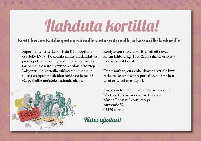 http://paperillalehti.blogspot.fi/2014/01/korttikerays-katiloopistolle.html