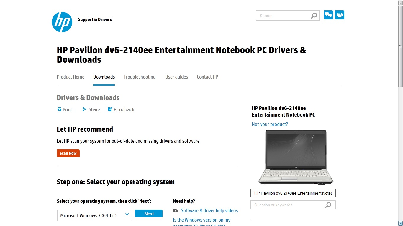Hp pavilion dv6 notebook pc drivers youtube.