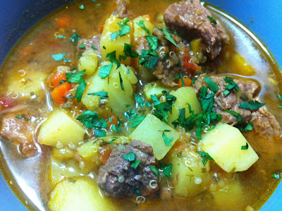 Cooking with SAHD: Beef, Potato and Quinoa Soup