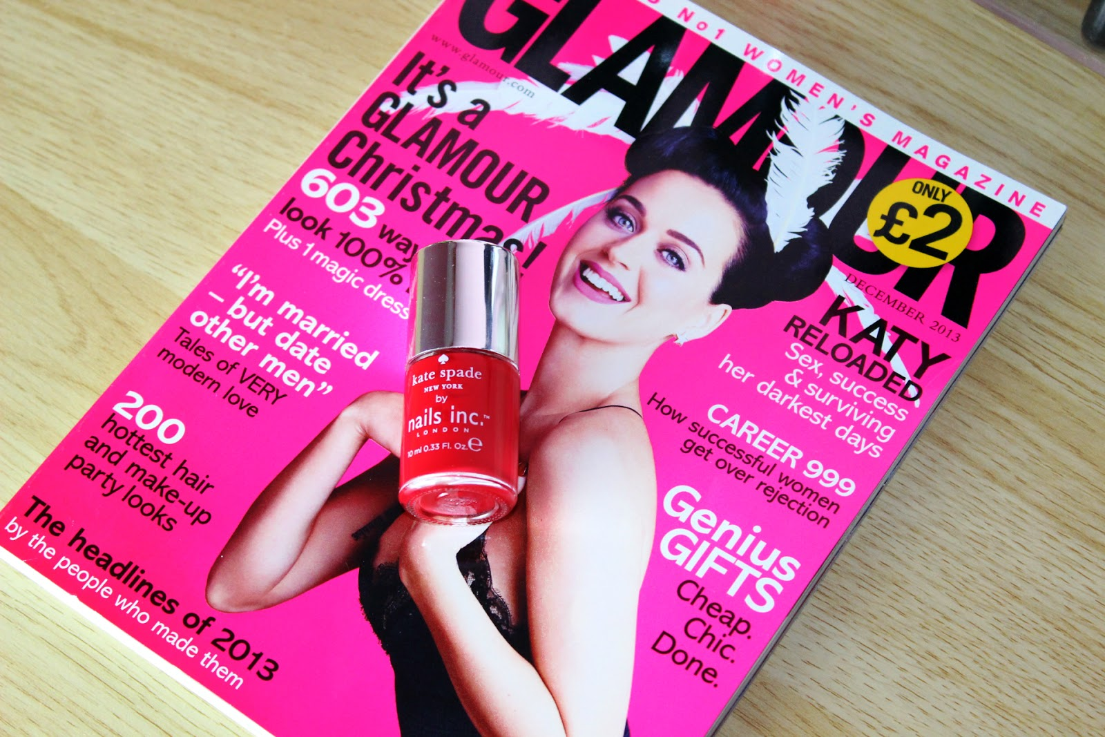 Glamour Magazine November Nails Inc Freebie
