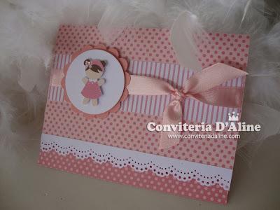 Convite Boneca Pano Rosa