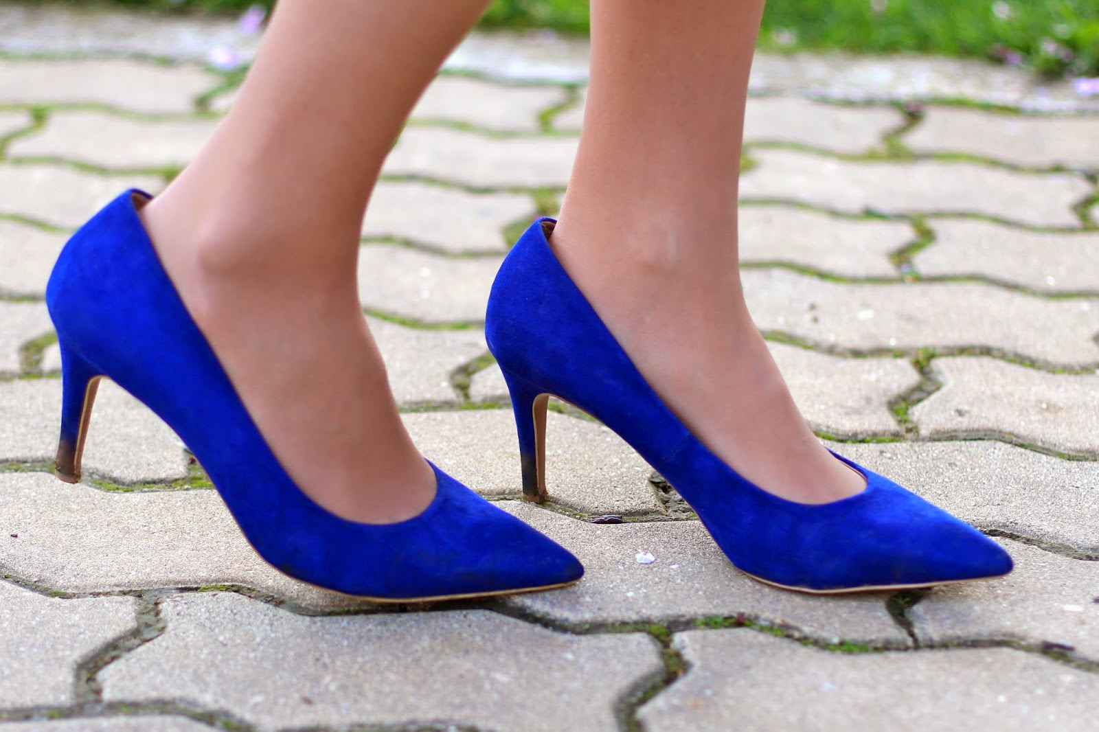 blue stilletos