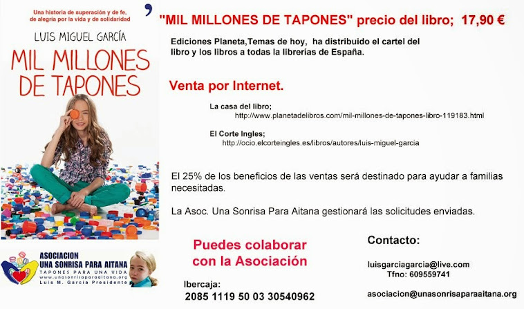 "UNA SONRISA PARA AITANA  ""MIL MILLONES DE TAPONES"" LIBRO SOLIDARIO"