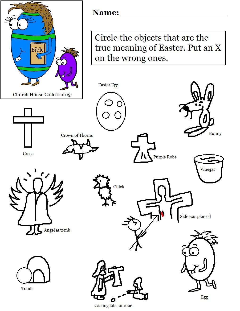 Sunday School Worksheets Free - Worksheets