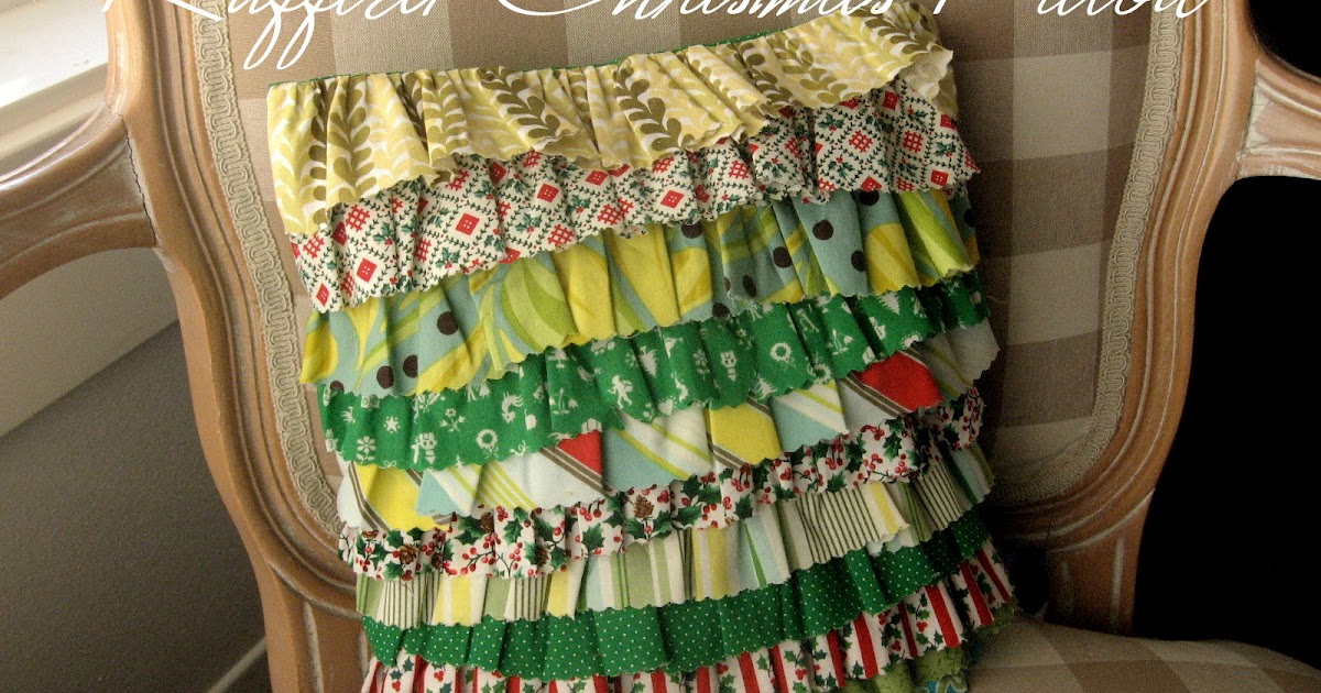 Pickup Some Creativity: Ruffled Christmas Pillow Cover Tutorial