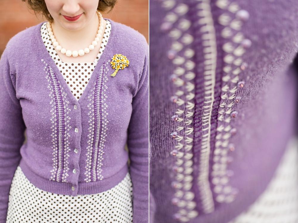 Mode de Lis: Re-fashioning · Purple Wool Sweater