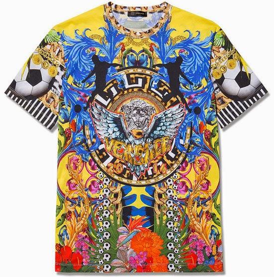 Versace Loves Brazil camiseta para la Copa Mundial FIFA 2014
