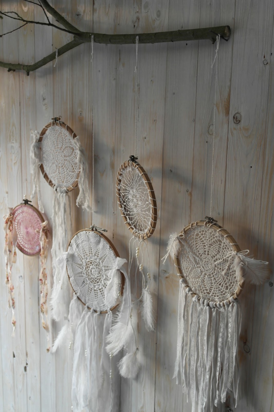 shabby chic and i shabby chic diy und deko dream catcher for you. Black Bedroom Furniture Sets. Home Design Ideas