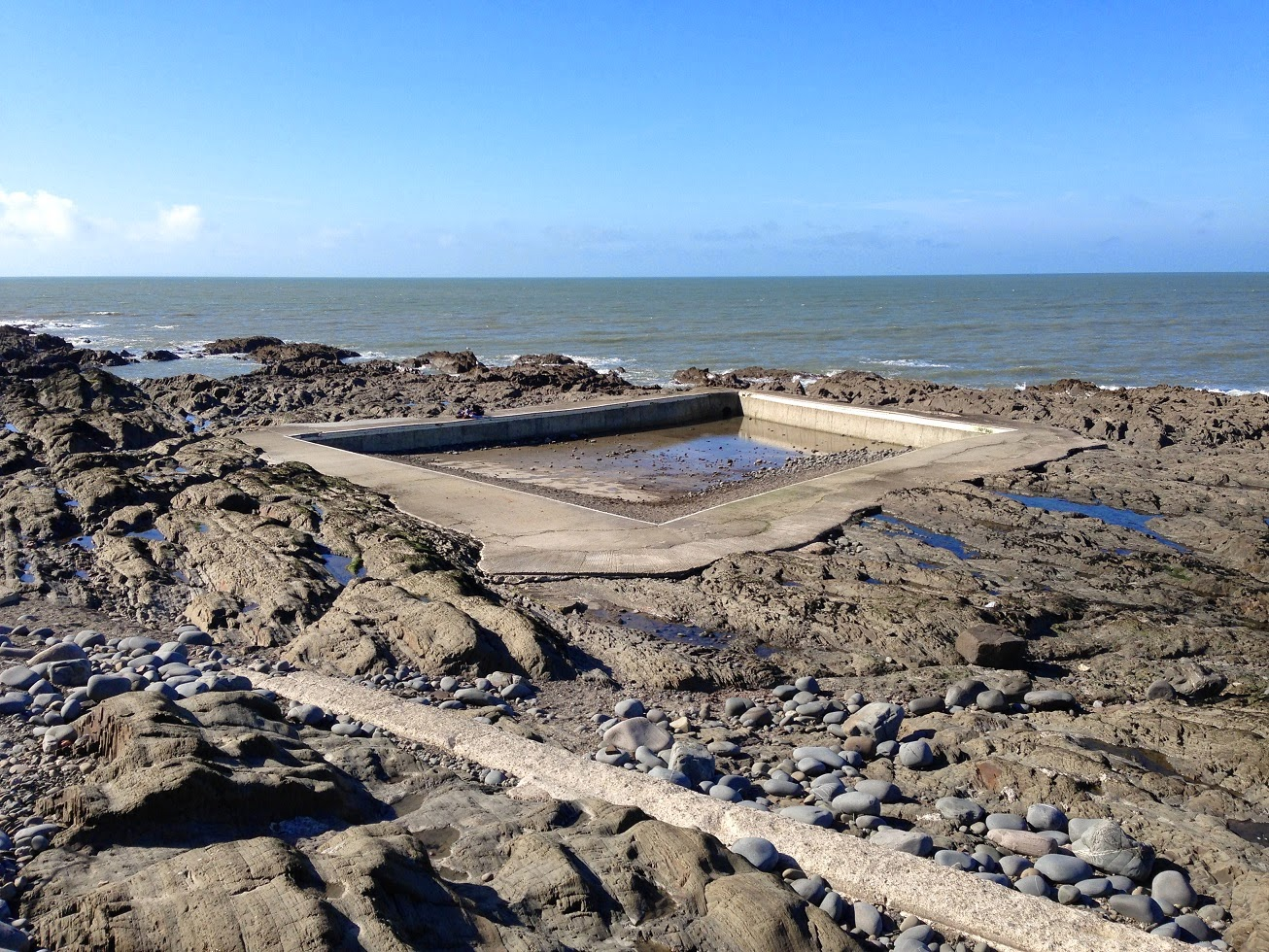 Tidal, outdoor, seawater pool, Westward Ho!, Devon