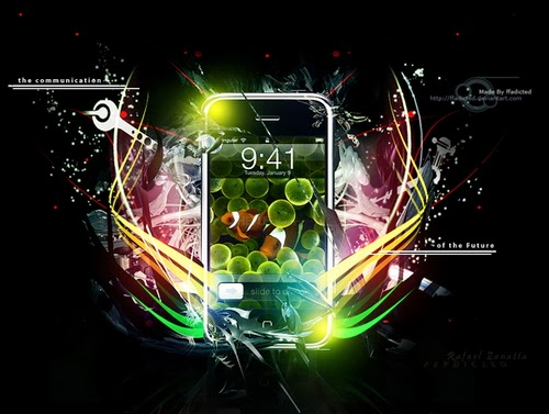 An iPhone Advertising Poster