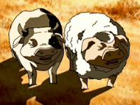 cow pig and sheep pig