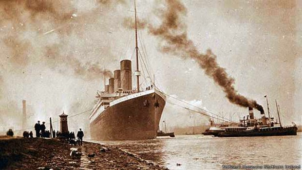 Primeira saída do titanic
