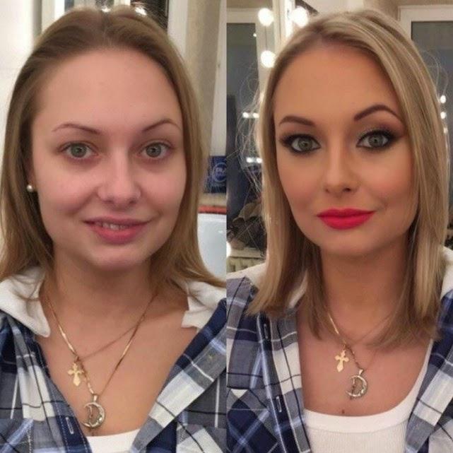 Milagros del maquillaje: Transformación de chicas normales en bellezas.