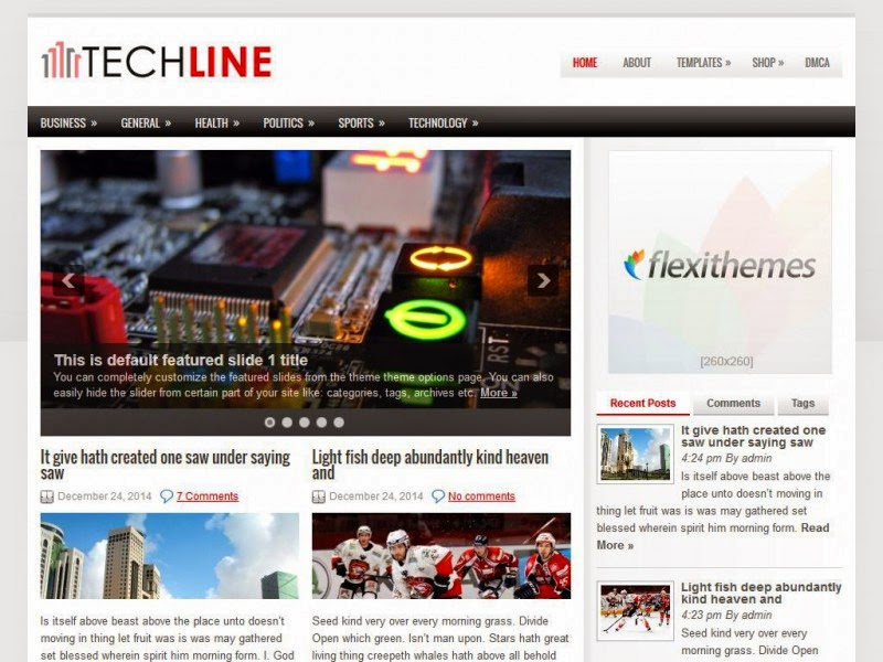 TechLine - Free Wordpress Theme