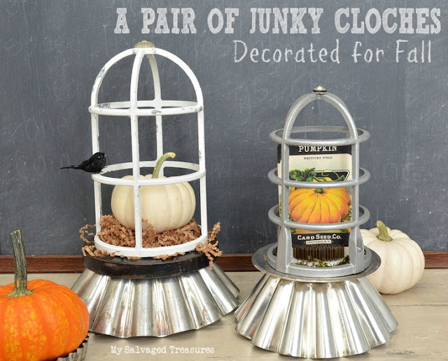 Junky Cloches Decorated for Fall