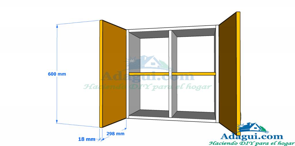Planos muebles cocina woodworking plans adagui diy m s - Medidas de los muebles de cocina ...