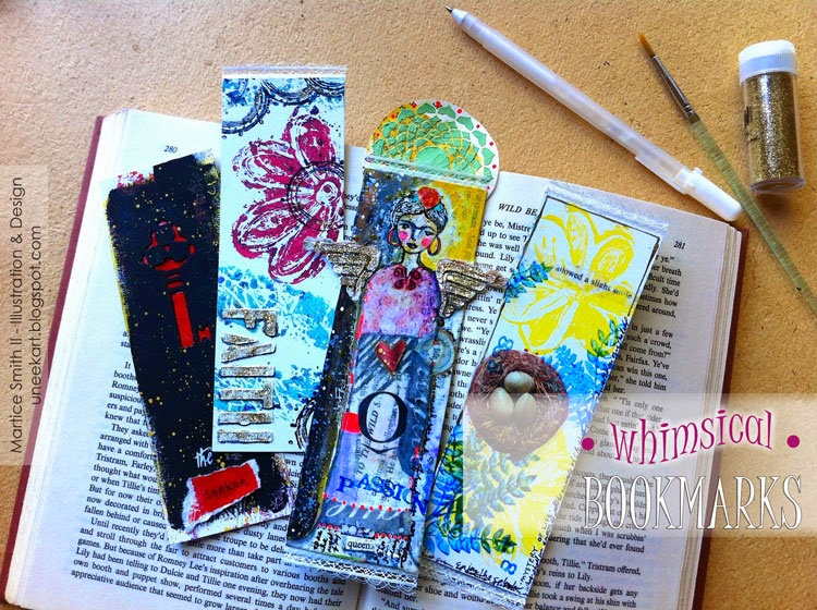 Whimsical Bookmarks, TUTORIAL by Artist Martice Smith II