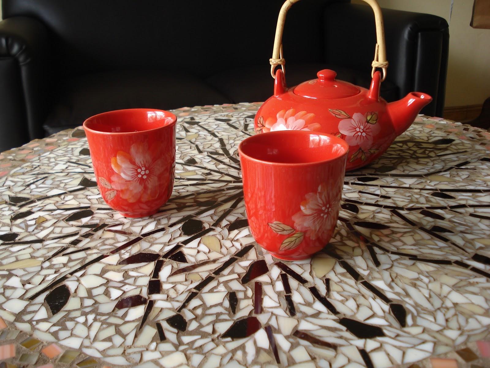 Arte palla objetos decorados mesita de cafe con mosaiquismo - Mesita de cafe ...