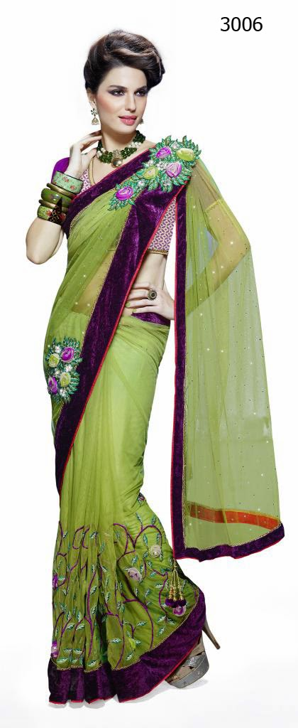 Letest Lengha type Saree-Online Shopping, Exclusive Designer Embroideries Resham Work Saree in Nagpur