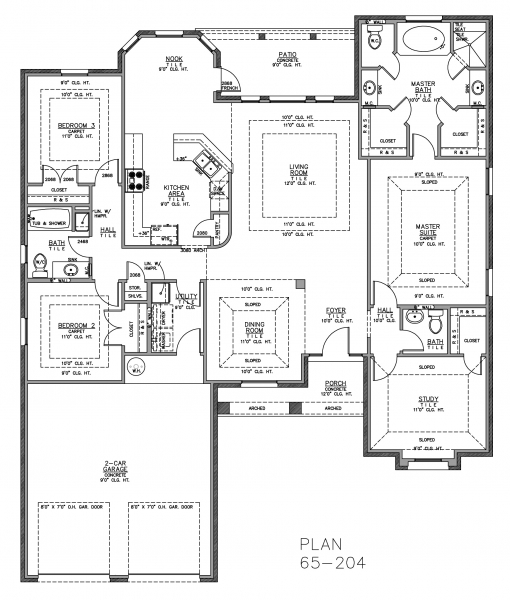 Ranch Floor Plans with Split Bedrooms