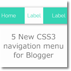 New CSS3 Navigation menu for Blogger (5 color style)
