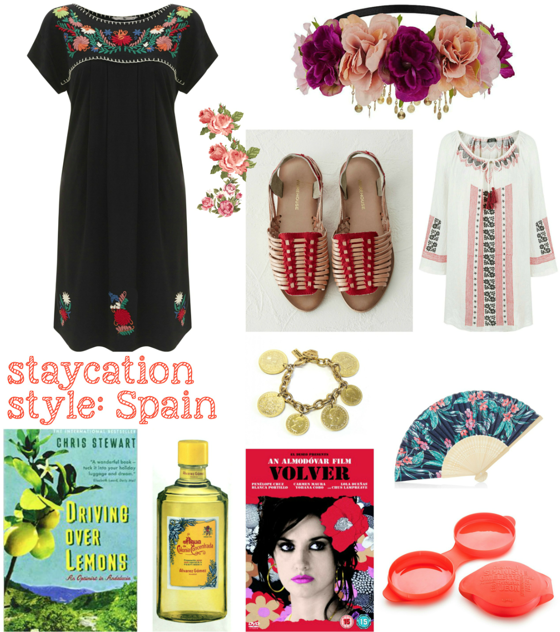 mamasVIB | V. I. BABYMAMAS: How to take a stylish holiday …at HOME! Part 1 | spanish holiday | holiday | stay cation | holiday style | vacation | trip | spain | spanish fashion | omelette maker | spanish fan | ann lou of london | coin bracelet | lemons | embroidery | smock drew | topshop | kaftan | leather sandals | warehouse spanish style | holiday in spain | holiday looks | style | mamasVIb | andalucia boo | cologne | mamasVIb | stylist | blog