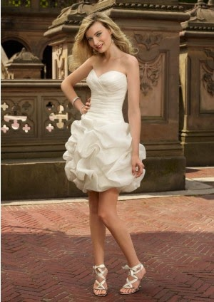 Sleeveless Short Sheath Chic Wedding Dresses in UK