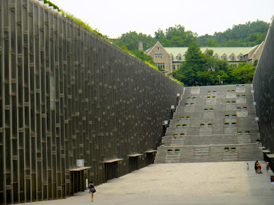 Monumental staircase of Ewha University Seoul