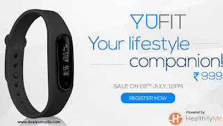 Micromax YuFit Band Rs. 999 – Amazon