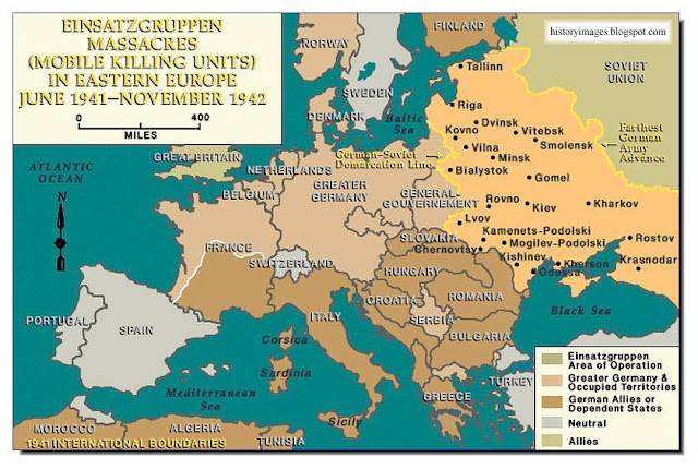 Einsatzgruppen killing fields  Russia June 1941  November 1942  Nazi exterminators