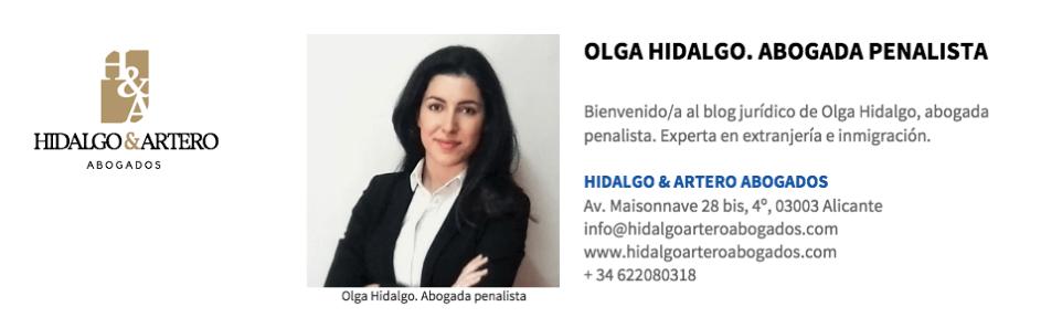 Olga Hidalgo   Abogada penalista experta en extranjería e inmigración