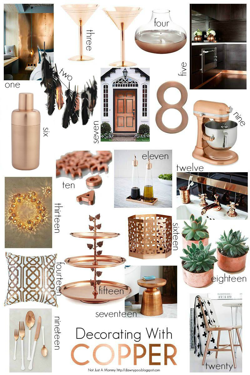 Fall decorating with copper