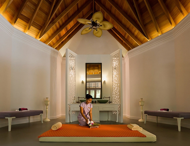 Massage room in Luxury Dusit Thani Resort in Maldives
