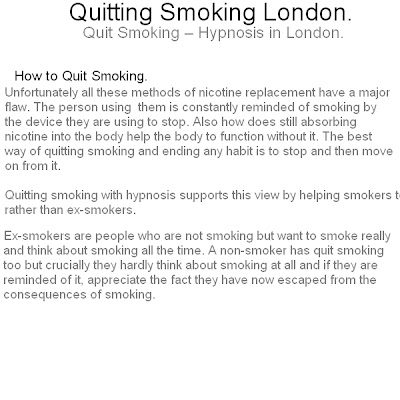 quit smoking london