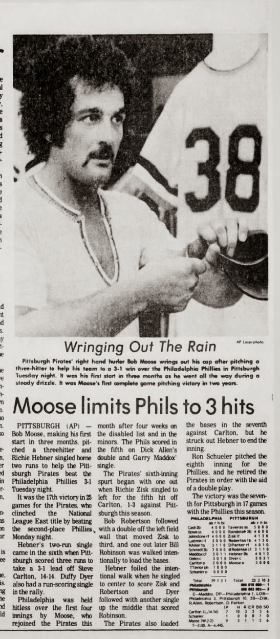 BOB MOOSE PIRATES 1975