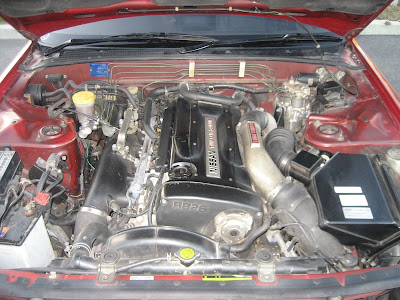 Real Nissan Skyline Original Engine Compartment