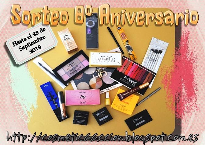 sorteo 8°aniversario cosmética en acción