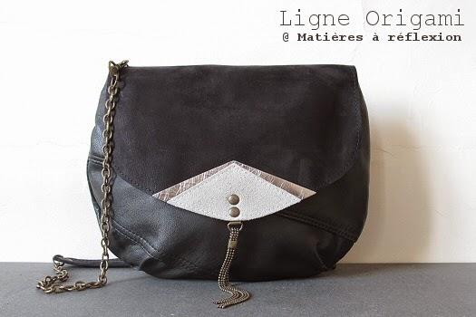 Petit sac en cuir vintage Origami by Matieres a reflexion