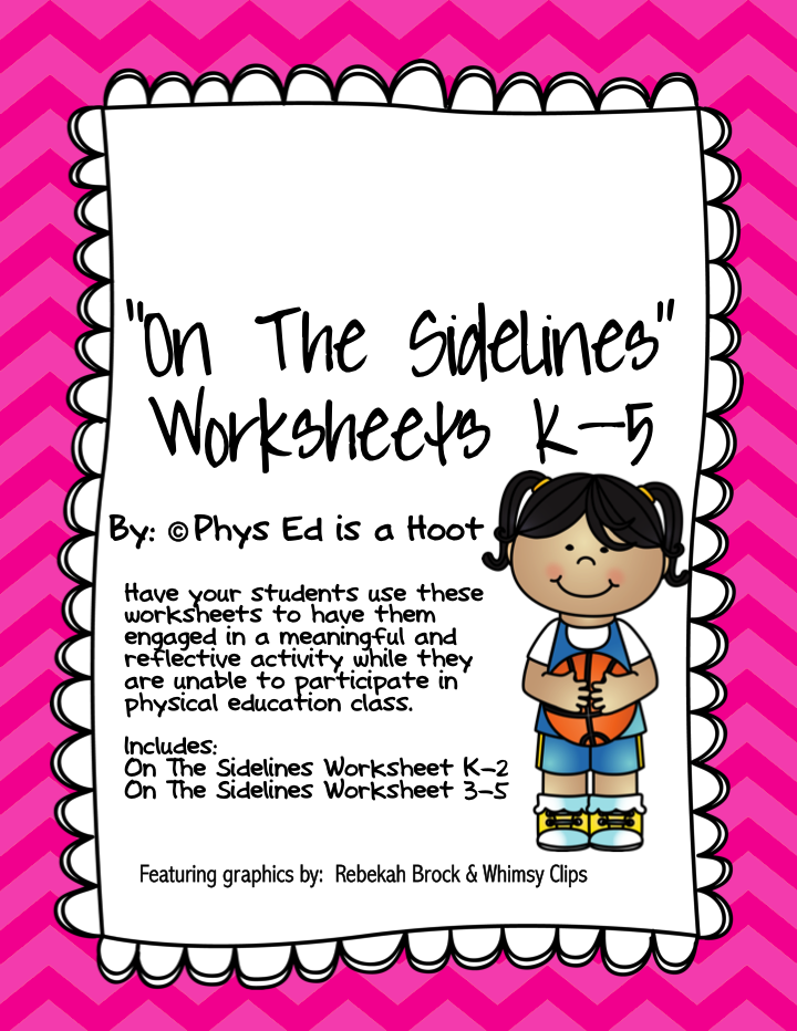 http://www.teacherspayteachers.com/Product/On-The-Sidelines-Worksheet-Non-Participation-Worksheet-for-Physical-Education-1384161